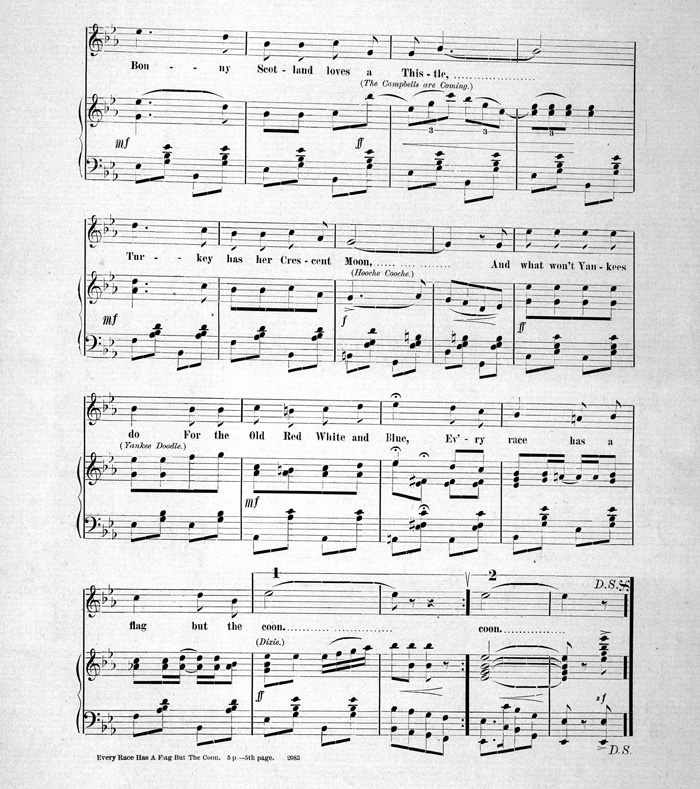 Every Race Has A Flag But The Coon Sheet Music